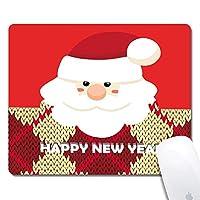 クリスマスサンタクロース拡張人間工学に基づいたゲーミングマウスパッド、長方形240x200x3mmマウスパッドカスタムデザインゴム長方形240x200x3mmマウスパッド-クリスマスサンタクロース