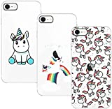 Young & Ming Cover Compatible per iPhone SE 2020/iPhone 8/iPhone 7, 3 Pack Morbido Trasparente...
