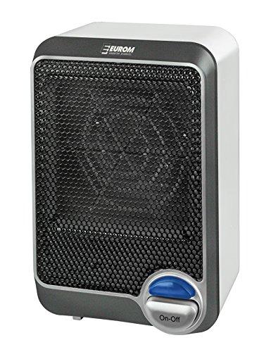 Eurom Heizlüfter \'\'Fan Heater 600\'\', 600W, CUBE- Design 11x12x18,5cm, Heizer, Heizgerät, Elektroheizung, Heizung, Elektroofen