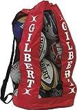 Gilbert Rugby Respirable Sacs De Billes Fourre-tout Maille Bandoulière 12 Balles Support - Rouge