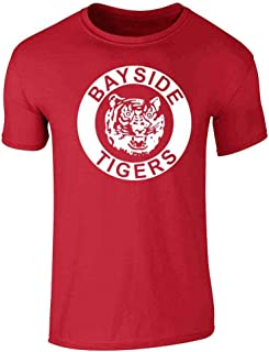 Bayside Tigers 90s Retro Halloween Costume Graphic Tee T-Shirt for Men
