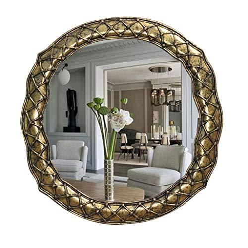 ShiSyan Il trucco dello specchio del LED, specchio da trucco parete Specchi Compatible with il salone d'oro, grande rotonda parete specchio a parete Specchio Specchio da toilette HD decorativo Soggior
