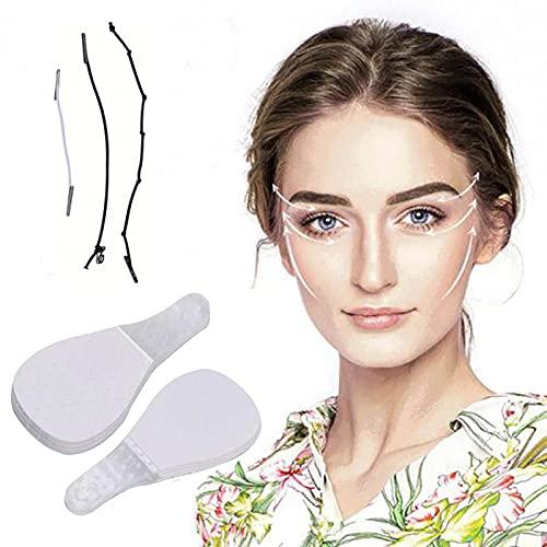 40 Stuks Instant Gezicht Hals Ooglift Tapes Facelift V-vorm, Anti Rimpel Onzichtbare Gezicht Lifting Patch Voor Vrouwen Meisjes