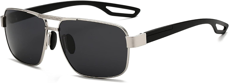 QFSLR Gafas De Sol Cuadradas Polarizadas Clásicas para Hombre Gafas De Sol De Conducción Protectoras UV400