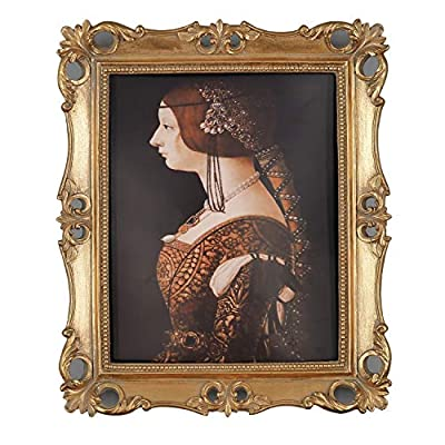 Simon's Shop 8x10 Picture Frame Antique Frame 8x10 Vintage Photo Frames 10 x 8 in Gold, Wall and Tabletop Picture Frames