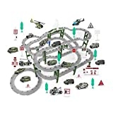 HCYY Track Slot Car Race Track Set Juego para niños Rutas de Tren Track Ultimate Slot Car Playset Regalo para niños Juego para niños Rutas de Tren Car Racing Track Set Juego de Doble Ruta Juguete