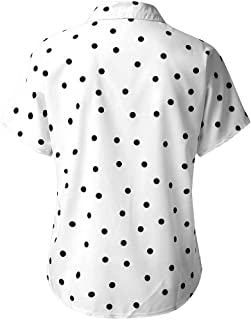 Uqiangy Mens Animal Printed Casual Slim Fit Long Sleeve Dress Buttons Stand Collar Shirt Tops