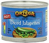 Ortega Diced Jalapenos, 4-Ounce Cans (Pack of 4)