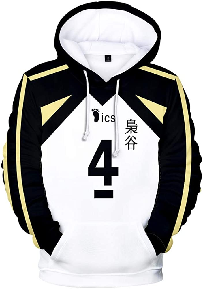 TISEAS Haikyuu Fukurodani Academy Hoodies and Volleyball Jersey Uniform for Teens//Mens//Womens