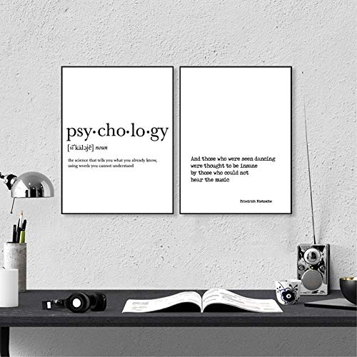 YDGG Friedrich Nietzsche Zitat Drucke Motivation Poster Psycholog Wandkunst Leinwand Malerei College Decor-50x70cmx2 stücke kein Rahmen