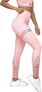 Women Yoga Pants Sequined High Waist Yoga Fitness Leggings Glitter Running Gym Stretchy Sport Pants Trousers Leggings Athl...