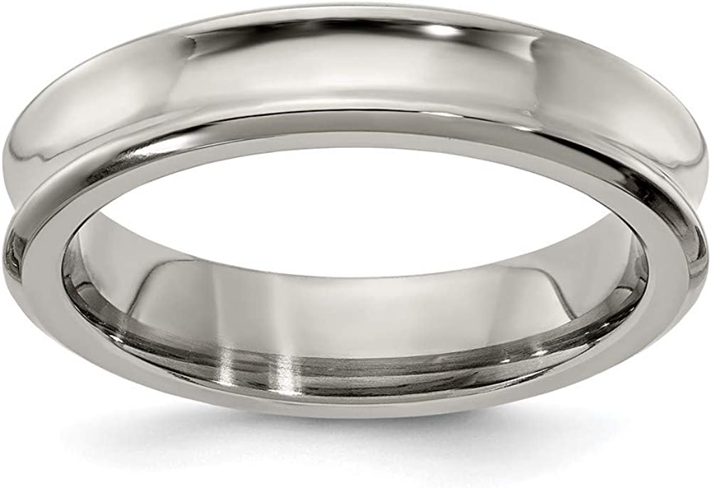 Ryan Jonathan Fine Jewelry Dealing full price store reduction Titanium Wedding Concave Rin 5mm Band