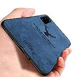 Yoota Cover Samsung Galaxy S20 Plus, Cover Stoffa Testa Cervo + Custodia Bordo Morbida TPU Paraurti Antiurto Anti-Scivolo Caso per Samsung Galaxy S20 Plus - Blu
