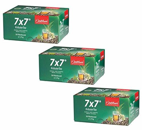 3 X 7x7 Kräutertee 50 Filterbeutel (150 Beutel )