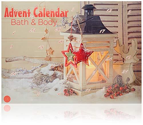 Accentra Adventskalender Beauty mit 24 Körperpflege & Badespaß Kleinigkeiten, abwechslungsreicher Inhalt, Nagelpflege, Badezusätze, Hautpflege…