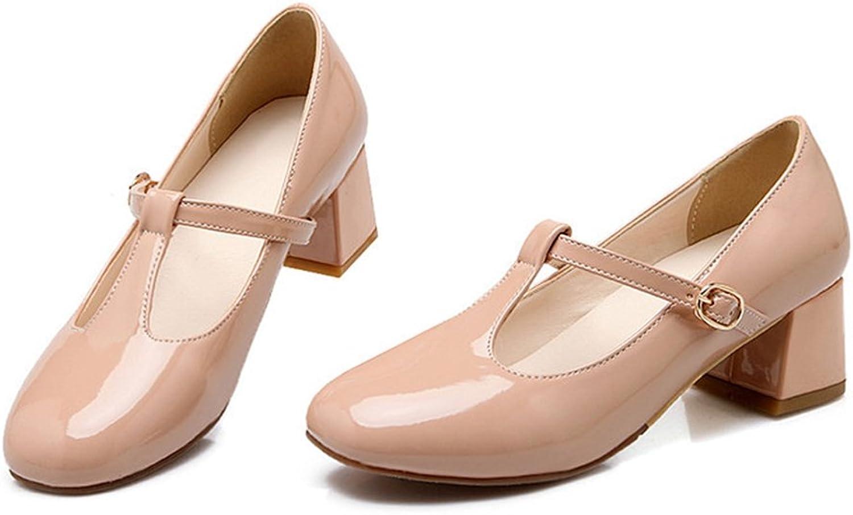 Round Last Work Thin shoes beige 39