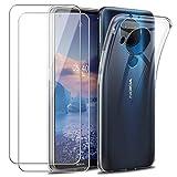 Reshias Case for Nokia 5.4, Soft Transparent TPU Gel