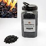 Firebrand Direct Vidrio de fuego negro de 4,5 kg (10 lb) – para fuegos, fuegos de gas y quemadores de etanol & período; Vidrio brillante resistente al calor