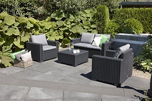 Allibert Lounge Sofa Rattan, Lounge California Sofa, Grau, 2-Sitzer - 3