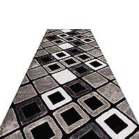 LXF 廊下敷きカーペット 灰色の現代幾何屋内/屋外用ユーティリティ敷物、自然ノンスリップゴムバッキング、80分の60/100 /幅120cm (Color : 0.6cm, Size : 80×200cm)