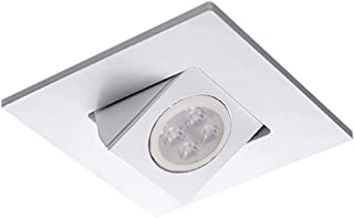 Warm Light 3000K 15-Degree Beam Angle WAC Lighting HR3LEDT118SWHZ//WT Tesla LED 3-Inch Open Round Trim
