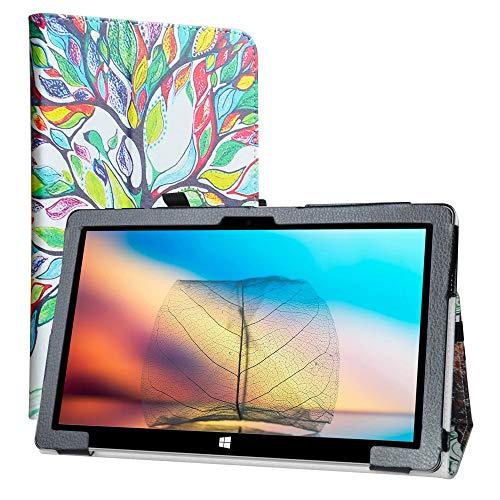 LiuShan Kompatibel mit Jumper EZpad 6 Pro/EZpad 6s Pro hülle, Folding PU Leder Tasche Hülle mit Ständer für 11.6