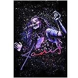 WXUEH Janis Joplin - Paint Splatter Poster Und Drucke