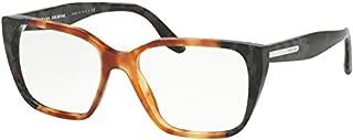 Prada PR08TVF Eyeglass Frames U6L1O1-53 - Light Havana/Spotted Grey PR08TVF-U6L1O1-53