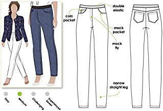 Style Arc Sewing Pattern - Misty Stretch Jeans (Sizes 04-16) - Click for Other Sizes Available