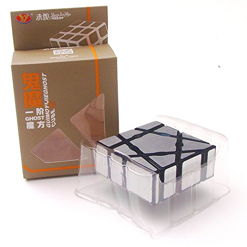 EasyGame - 133 Magic Cube Irregular 1X3X3 Speed Puzzle Rompecabezas Juguetes (plata)
