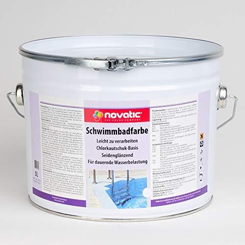 novatic schwimmbadfarbe 5 l blau