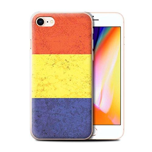 Telefoonhoesje voor Apple iPhone SE 2020 Vlaggen Roemenië/Roemeens Ontwerp Transparant Helder Ultra Slim Dun Hard Back Cover