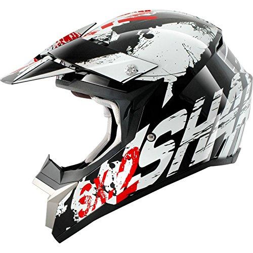 SHARK SX2 FREAK - Crosshelm, Farbe schwarz-weiss-rot, Größe M (57/58)