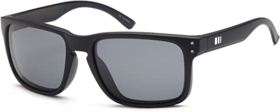 Gamma Ray Men's Polarized Sunglasses Square Mirrored Sunglasses