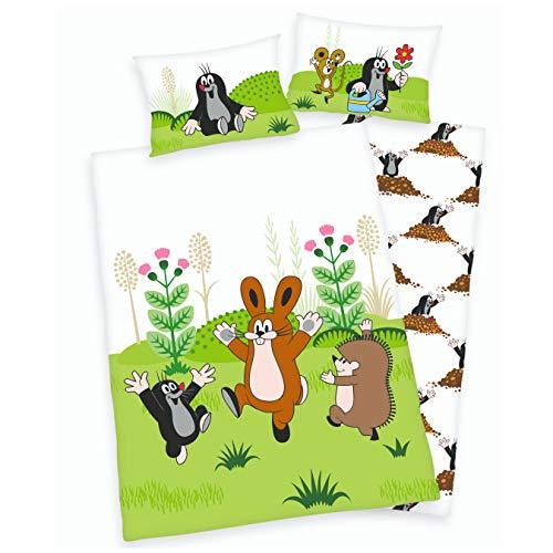 Maulwurf Babybettwäsche Kinder-Bettwäsche für Mädchen & Jungen ☆ Der kleine Maulwurf und seine Freunde - 1 Kissenbezug 40x60 + 1 Bettbezug 100x135 cm