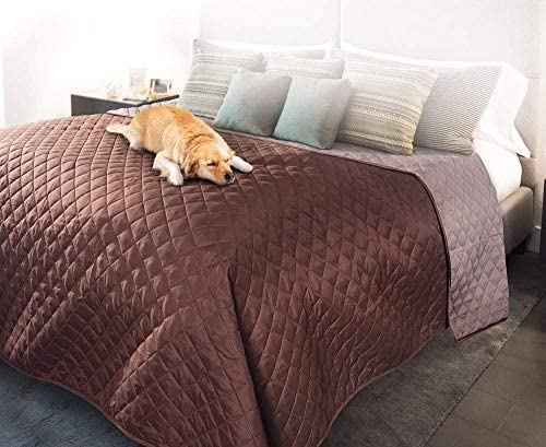 Pet Parade Bed Protector Waterproof Reversible Washable Protection for Cats Dogs Blanket Brown product image