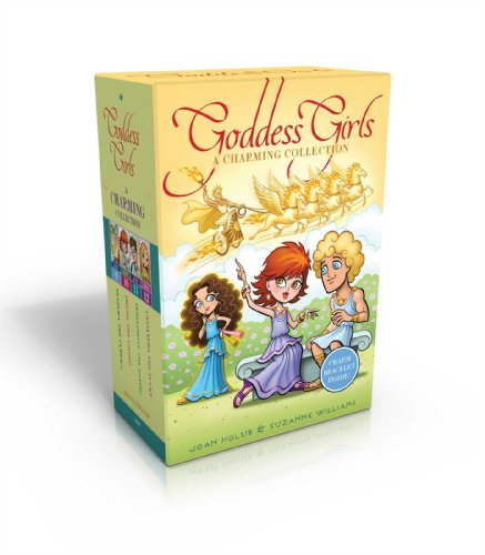 The Goddess Girls Charming Collection Books 9-12 [With Charm Bracelet]: Pandora the Curious; Pheme the Gossip; Persephone the Daring; Cassandra the Lucky