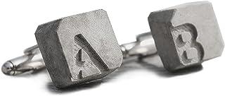Manschettenknöpfe Beton mit Initialen | becrete von Betonidee | 2 cufflink in Schmucketui | personalisiertes Männer-Gesche...