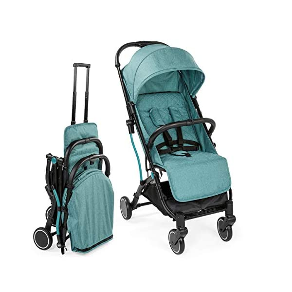 Chicco Trolley Chicco Trolley function to carry the stroller without lifting it Compact one-handed quick locking system, when closed stand alone Bumper sleeve with front opening for the child on the seat 1