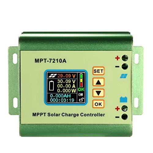 ZLININ Regulador de batería de panel solar Mppt controlador de carga con pantalla LCD a color 24/36/48/60/72V 10A con función de carga de Dc-Dc