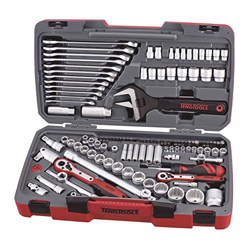 """Teng Tools 1//2/"""" Square Drive Heavy Duty Ratchet Head Wrench Handle Tool Set"""