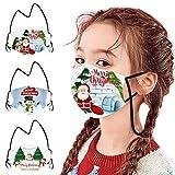 SHUANGA Weihnachten Face Cover Multifunktionstuch Schule Winddicht Atmungsaktiv Mundschutz Halstuch Schön Atmungsaktiv Sommerschal Augenschutz