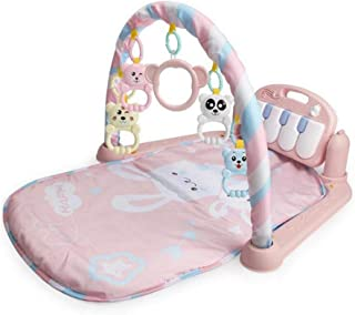 Womdee Kick 'n Play Piano Gym, Baby Kick 'n Play Piano Gym, Infants Newborn Playgym Playmat Activity Mat with Music & Lights, Fitness Mat for 0-36 Month Baby