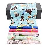 AIREQN Ptinted Cloth 5-7PCS / Set el 100% Sarga de algodón Tela Telas for el Remiendo del Arte Hecho a Mano DIY Tissu acolchar de Costura del Material (Color : 6pcs 517, Size : 20x25cm)