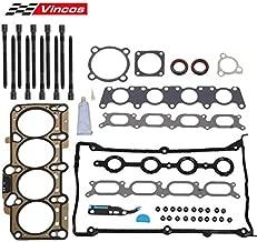 Vincos Head Gasket with Bolts HS26182PT, ES71193 Head Gasket Bolts Set Compatible with Golf TT Quattro 2000 2001 2002 2003 2004 2005 2006 Beetle Jetta Passat 2000-2005 1.8L L4
