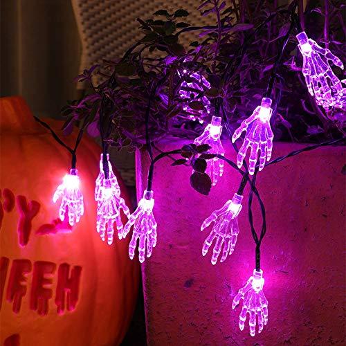 Lushi Halloween LED Lichterkette Geisterdeko Fledermaus Lichterkette Halloween Party Lichterkette Dekoration Wohnzimmer Garten Lichter, Stil A42, 7 meters 50 lights