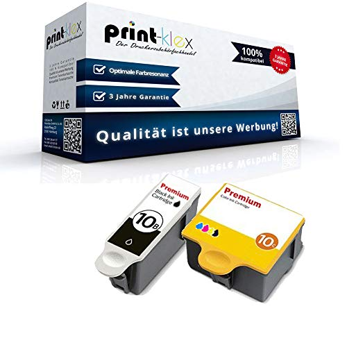 2x Kompatible Tintenpatronen für Kodak ESP 3 ESP 3200 ESP 3200 Series ESP 3250 ESP 5 ESP 5200 Series ESP 5210 8955916 NO10 8955916 NO 10 Black Cyan Magenta Yellow - Color Print Serie