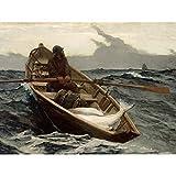 Winslow Homer Fog Warning Painting Large XL Wall...