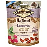 Carnilove Crunchy Snack Mackerel & Raspberries, Premios para Perro, 200G - 200 gr