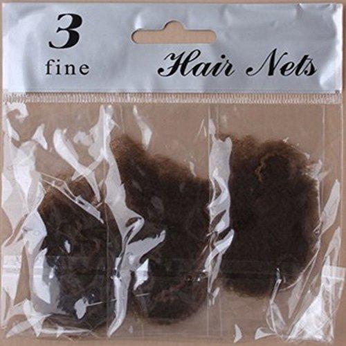 Paquet de 3 filets à cheveux en maille fine pour femmes, marron ou noir - Idéal pour travailler